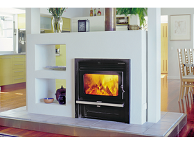 Jetmaster Kemlan Coupe Wall Penetration Inbuilt Wood Burning Fireplace