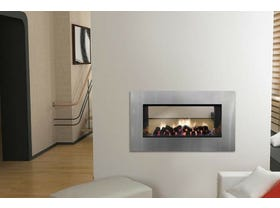 Jetmaster Kemlan Horizon Low Line Double Sided Gas Fireplace