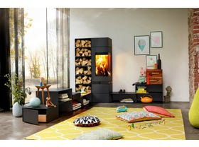 Skantherm Elements 400 Corner Slow Combustion Wood Burning Fireplace