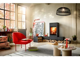 Skantherm Elements 600 Front Slow Combustion Wood Burning Fireplace