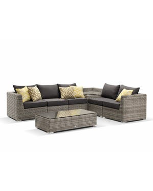 Moonscape 7pc with corner coffee table