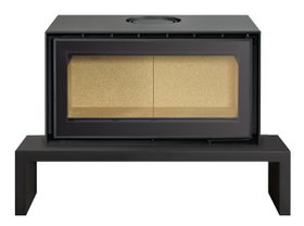 ADF 820NMV-B Freestanding Wood Burning Fireplace