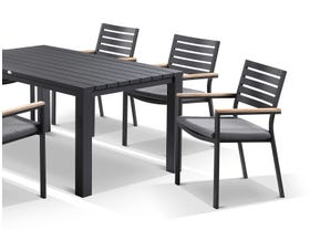 Adele table with Astra  Chairs 7pc Outdoor Dining Setting
