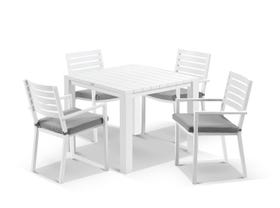 Adele Table With Mayfair Chairs 5pc Outdoor Dining Setting