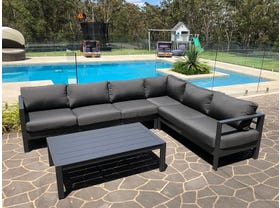 Amalfi 6 Seater  Aluminium  Outdoor Modular Lounge  Setting