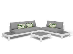 Aspen 5 Seater Outdoor Platform Lounge Setting