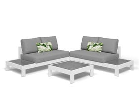 Aspen 4 Seater Outdoor Platform Lounge Setting