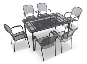Tavio Extension Table with Carlo Chairs -7pc