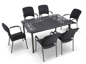 Tavio Extension Table with Carlo Chairs