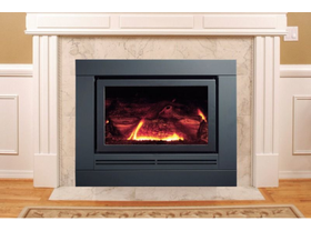 Coonara Grange Domain  Inbuilt Gas Burning Fireplace in Charcoal