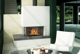 Axis H1200VLG Two Sided Wood Burning Fireplace