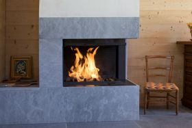 Axis H1200VLD Two Sided Wood Burning Fireplace