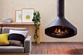 Focus Ergofocus Wood Burning Hanging Fireplace