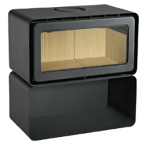 ADF 820NM-RS Freestanding Wood Burning Fireplace