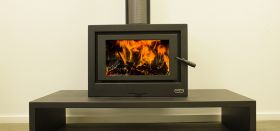 Kemlan Cube Freestanding Wood Burning Fireplace