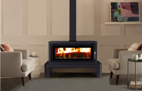 Kent Fairlight Freestanding Wood Burning Fireplace