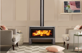Kent Geo Freestanding Wood Burning Fireplace