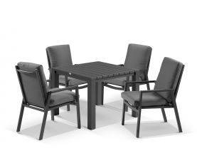 Adele Table With Mikado Chairs 5pc Outdoor Dining Setting