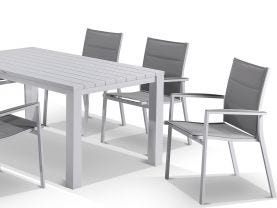 Adele table with Latina chairs  7pc Outdoor Dining Setting