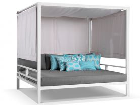 Cabana Outdoor Daybed -White / Cast Slate