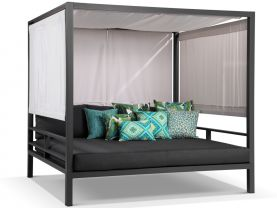 Cabana Outdoor Daybed -Charcoal / Sooty