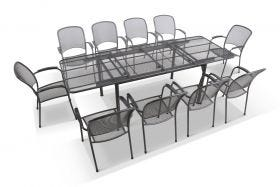 Tavio Extension Table with Carlo Chairs 11pc