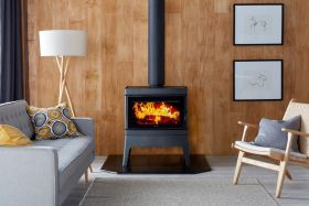 Cleanair Small Freestanding Console Wood Burning Fireplace