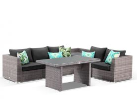 Como 7pc Low Dining Set -Lavash/Coal