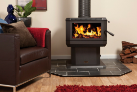 Coonara Midi Freestanding Wood Burning Fireplace in Charcoal