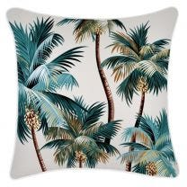 Palm Trees Summer Cushion in Natural -60 x 60