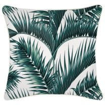 Palm Fronds Cushion with Piping - 45 x 45