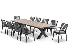 Fox 300 teak outdoor dining setting