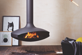 Focus Gyrofocus Wood Burning Hanging Fireplace