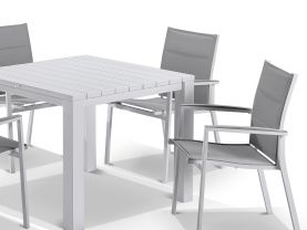 Adele table with Latina Chairs 5pc Outdoor Dining Setting