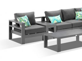 Aspen 6 Seater Outdoor Aluminium Modular Lounge Setting