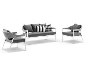 Nivala 3pc Outdoor Lounge Setting
