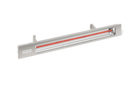 Infratech Stainless Steel Slimline Electric Heater - 2400w