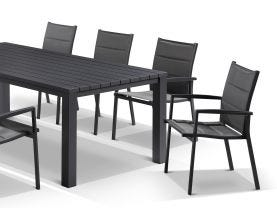 Adele table with Latina Chairs 9pc Outdoor Dining Setting