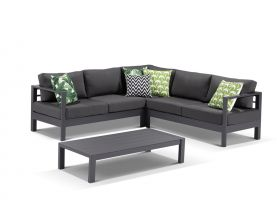 Amalfi 5 Seater -Gunmetal /Canvas Coal