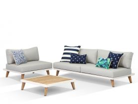 PRE ORDER - Sorrento 3pc Outdoor Platform Lounge Setting