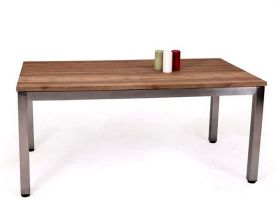 Marseilles Teak Outdoor 170 / 280 X 90cm Extension Table With 316 Stainless Steel Frame