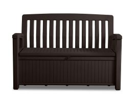 Outstore Patio Bench Outdoor Storage Box in Brown