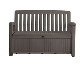 Outstore Patio Bench Outdoor Storage Box in Taupe