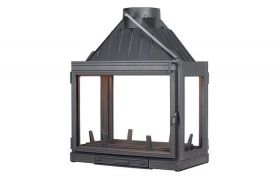 Seguin Multivision 8000 Four Sided Cast Iron Cheminee Fireplace