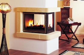 Seguin Multivision 8000 Three Sided Cast Iron Cheminee Fireplace