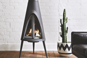 Invicta Tipi Cast Iron Wood Burning Fireplace