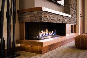 Ortal Corner Gas Fireplace- Multiple Sizes Available