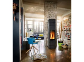 Skantherm Elements 400 Front Slow Combustion Wood Burning Fireplace