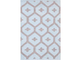 Dash & Albert Elizabeth Outdoor Indoor Rug in Blue