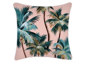 Palm Tree Cushion with Piping - 45 x 45